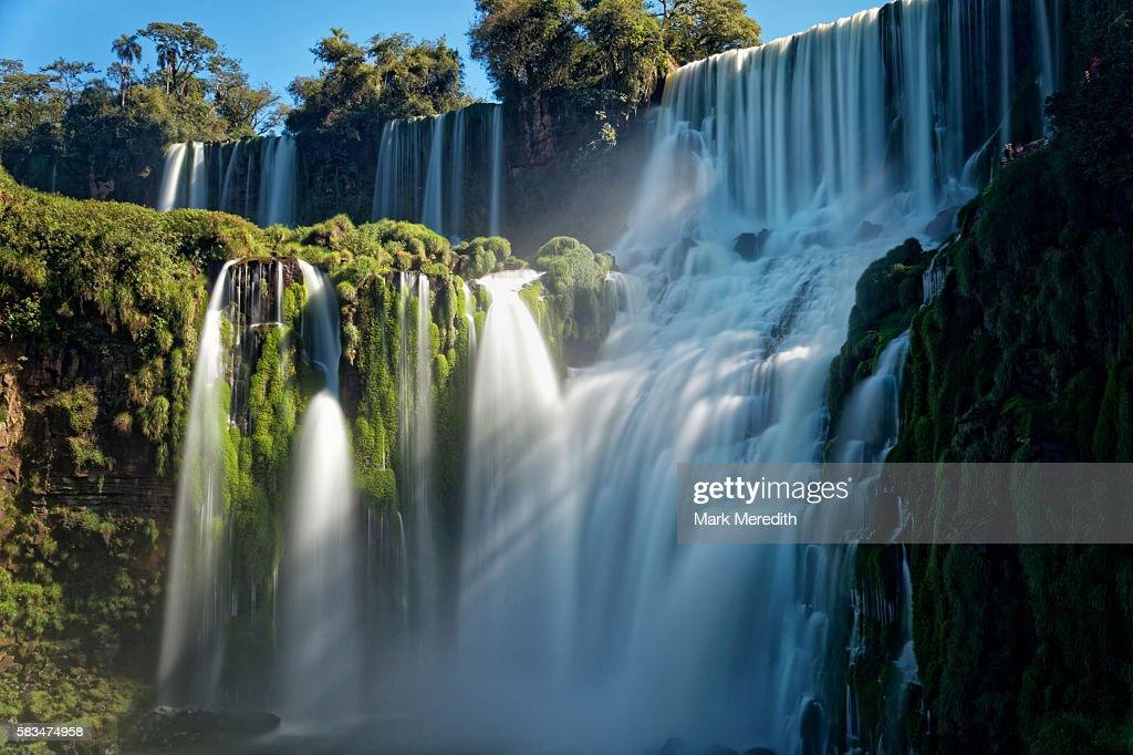 The Bossetti Falls at Iguazu Falls in Argentina : Stock Photo