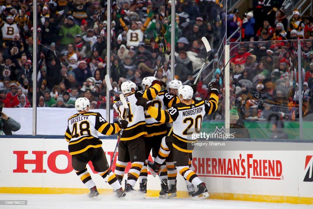 2019 Bridgestone NHL Winter Classic - Boston Bruins v Chicago Blackhawks : News Photo