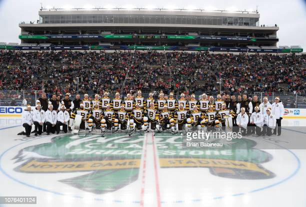 The Boston Bruins pose for a team photo prior to the 2019 Bridgestone NHL  Winter Classic c93b7ce63