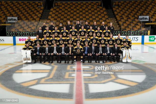 The Boston Bruins pose for their official team photo of the 20182019 season at the TD Garden on March 6 2019 in Boston Massachusetts