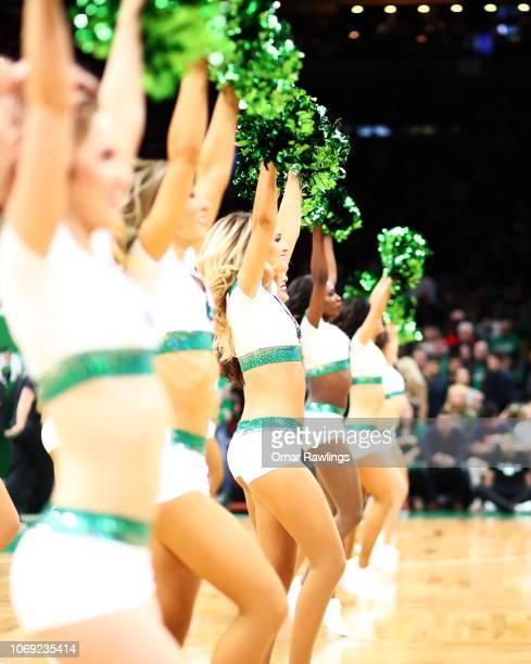 The Boston Celtics cheerleaders before the game between the Boston Celtics and the Utah Jazz at TD Garden on November 17 2018 in Boston Massachusetts...