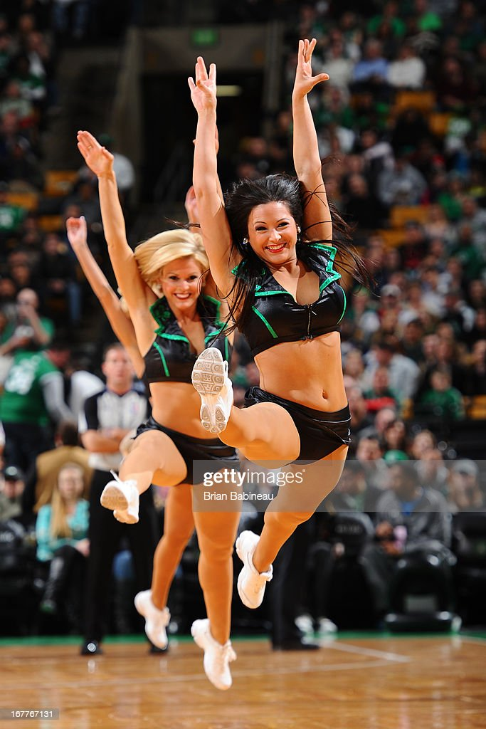 The Boston Celtics dance team performs during the game against the Detroit Pistons on April 3, 2013 at the TD Garden in Boston, Massachusetts.