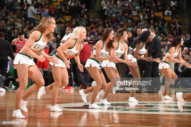 The Boston Celtics dance team performs during the game against the Chicago Bulls on March 12 2017 at the TD Garden in Boston Massachusetts NOTE TO...