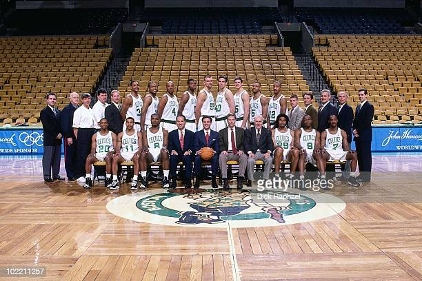 The Boston Celtics pose for a team picture in 1999 at the Boston Garden in Boston Massachusetts NOTE TO USER User expressly acknowledges and agrees...