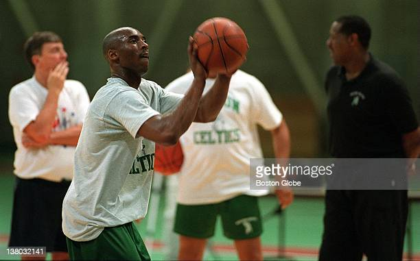The Boston Celtics try out Kobe Bryant as coaches look on