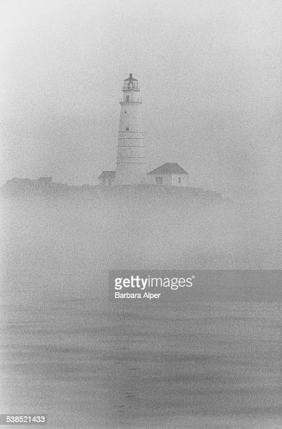 The Boston Light a lighthouse in Boston Harbor Massachusetts 1976