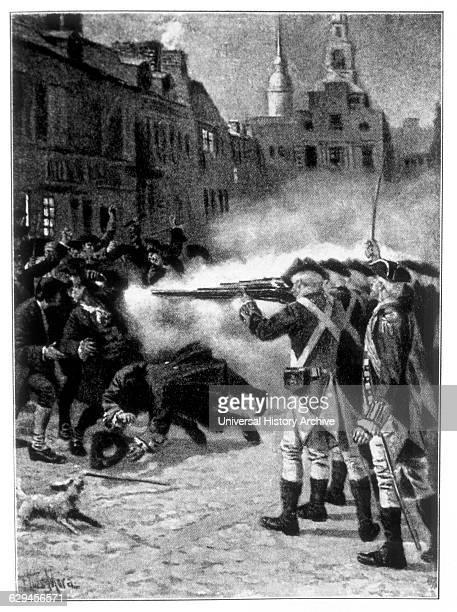 The Boston Massacre, 1770.