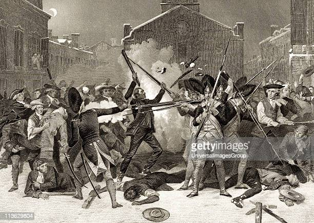 The Boston Massacre March 5 1770 After Alonzo Chappel from Life and Times of Washington Volume 1 published 1857