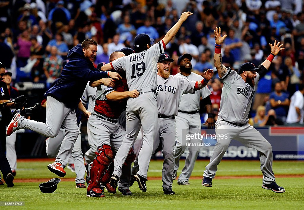Division Series - Boston Red Sox v Tampa Bay Rays - Game Four : News Photo