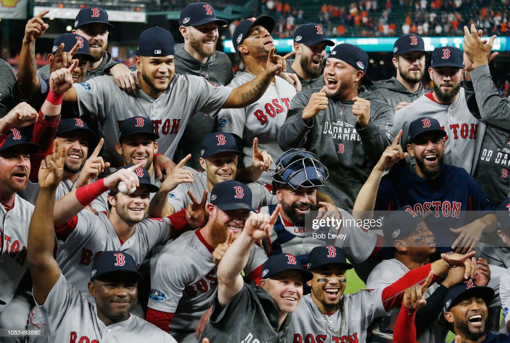 League Championship Series - Boston Red Sox v Houston Astros - Game Five : News Photo