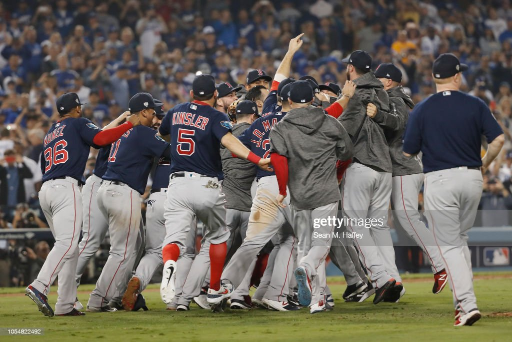 e6f9ed46383 World Series - Boston Red Sox v Los Angeles Dodgers - Game Five   News Photo