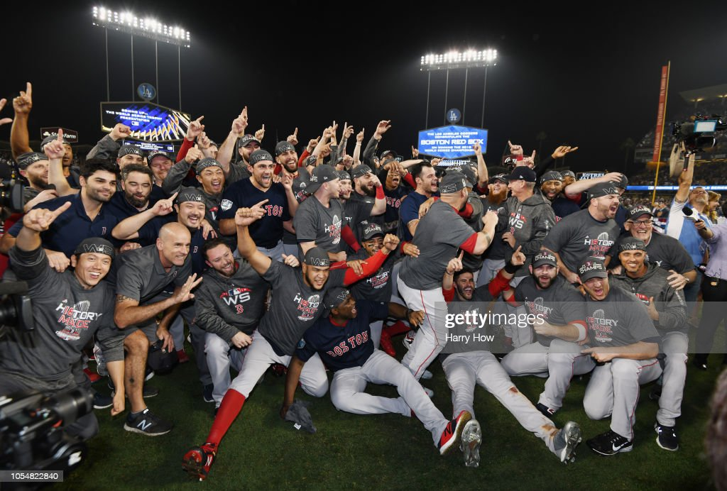 eae91259e World Series - Boston Red Sox v Los Angeles Dodgers - Game Five : News Photo