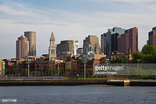 The Boston Skyline As Seen From The Charles River Massachusetts