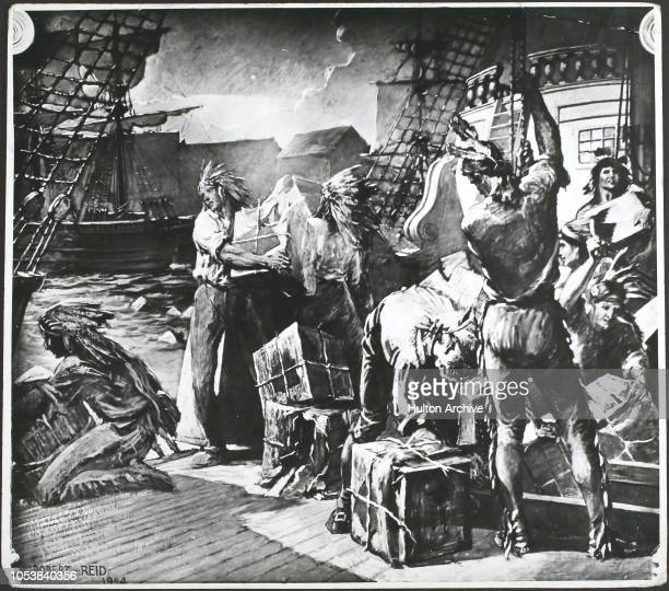 The Boston Tea Party 1773 Among the group is Samuel Adams one of the people who instigated the Boston Tea Party Boston By Robert Reid