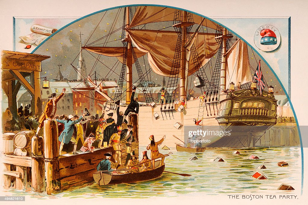 The Boston Tea Party When American Colonists Dressed As Indians Threw A British Cargo Of