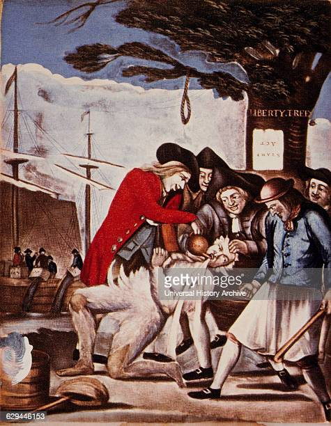 The Bostonians Paying the Exciseman or Tarring and Feathering 1774