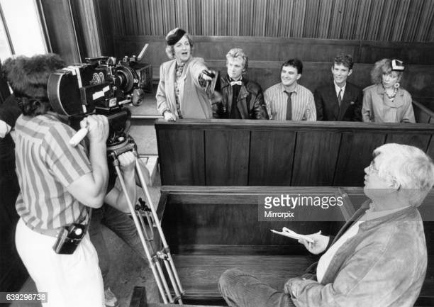 The Boswell family seen here in the dock at St George's Hall during the filming for the next series of Bread 21st September 1988