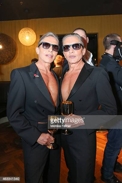 The Botox Boys Arnold and Oskar Wess attend the Champagne And Oyster Reception in Hotel Le Meridien on February 12 2015 in Vienna Austria