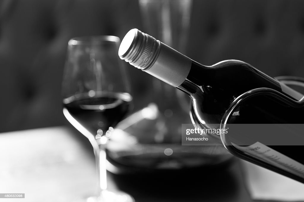 The bottle of wine : Stockfoto