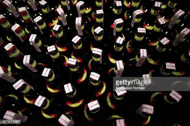 'The bottles of Brunello di Montalcino made at Fattoria dei Barbi Montalcino Italy October 2005 '