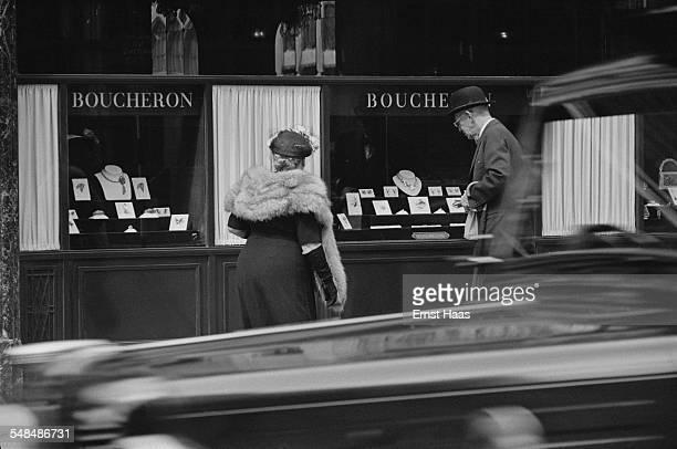 The Boucheron jewellery store on Bond Street Mayfair London circa 1953