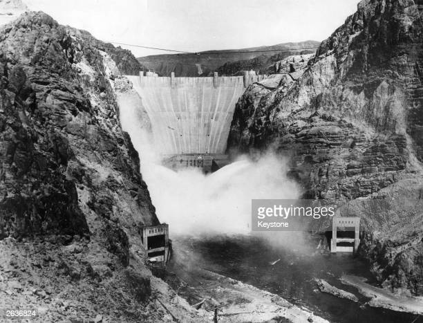 The Boulder Dam on the Arizona Nevada border It harnessed water from the Colorado River for use in power generation