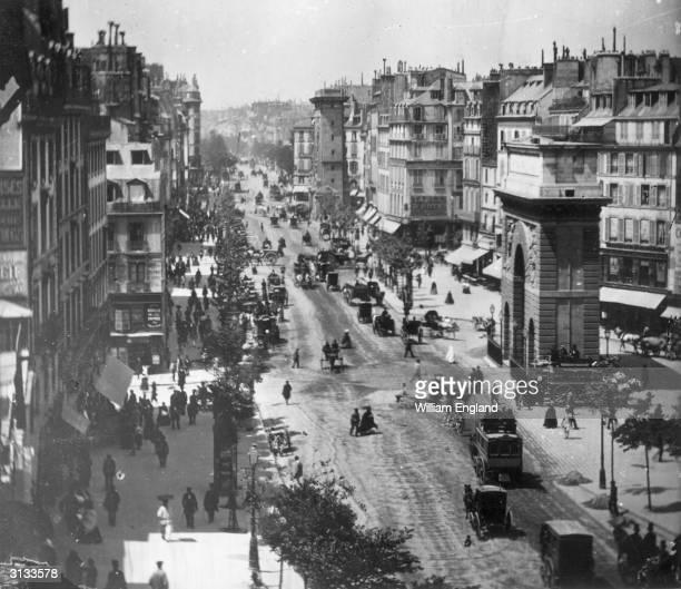 The Boulevard St Denis, Paris, 1859.
