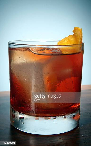 The Boulevardier a mix of Rittenhouse rye whiskey Campari and sweet vermouth is a featured drink at The Whistler in Chicago