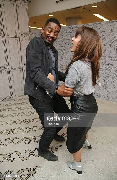 """The Bounce Back"""" cast members Bill Bellamy and Nadine Velazquez attend the Build Series at AOL HQ on November 30, 2016 in New York City."""