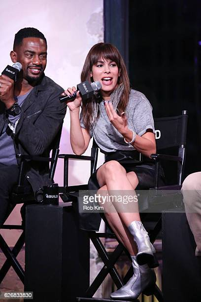 """The Bounce Back"""" cast members Bill Bellamy and Nadine Velazquez discuss their new movie at the Build Series at AOL HQ on November 30, 2016 in New..."""
