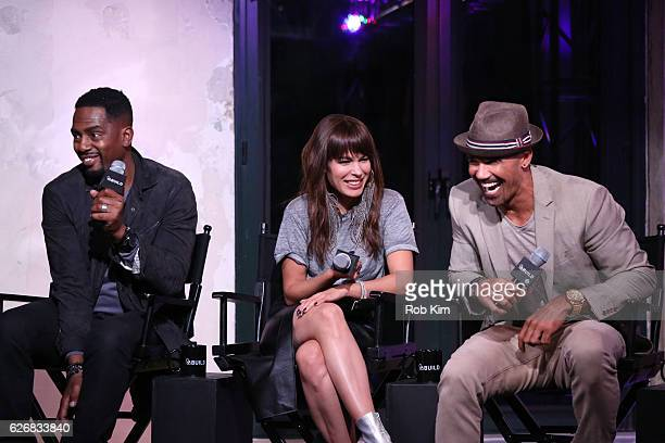 """The Bounce Back"""" cast members Bill Bellamy, Nadine Velazquez and Shemar Moore discuss their new movie at the Build Series at AOL HQ on November 30,..."""