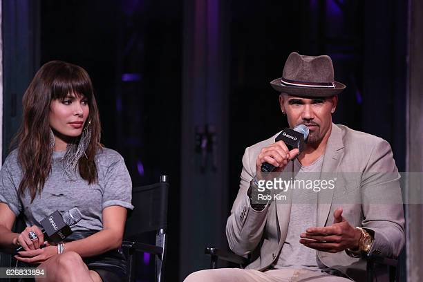 """The Bounce Back"""" cast members Nadine Velazquez and Shemar Moore discuss their new movie at the Build Series at AOL HQ on November 30, 2016 in New..."""