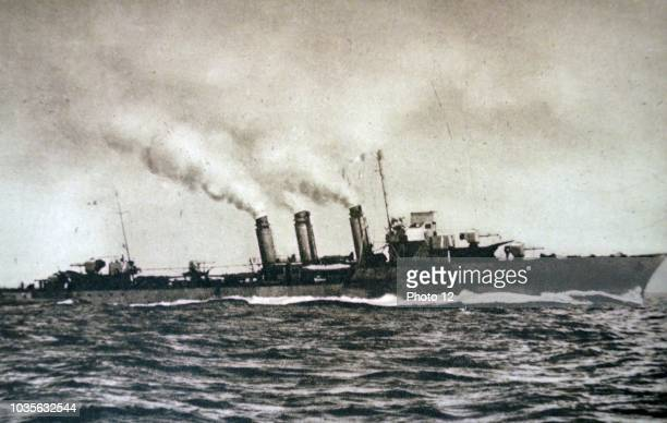 The Bourrasque class French Navy destroyer 'Sirocco' Sunk by the Eboats S23 and S26 on 31 May 1940 during Operation Dynamo world War II