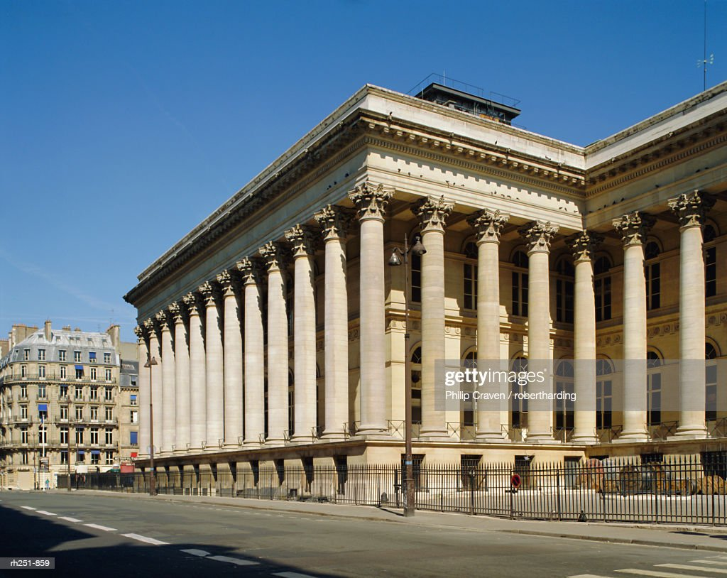 The Bourse (Stock Exchange), Paris, France, Europe : Foto de stock