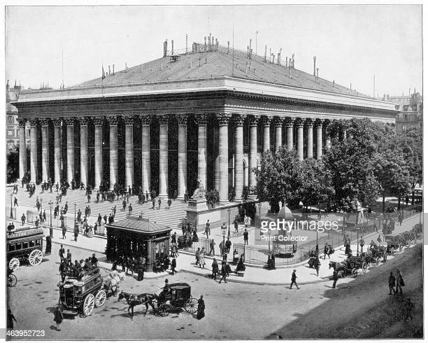 The Bourse Paris late 19th century The French Stock Exchange Photograph from Portfolio of Photographs of Famous Scenes Cities and Paintings by John L...