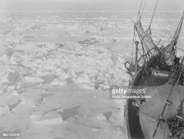 The bow of the 'Endurance' frozen in the ice Antarctica 1914 Imperial TransAntarctic Expedition 19141916