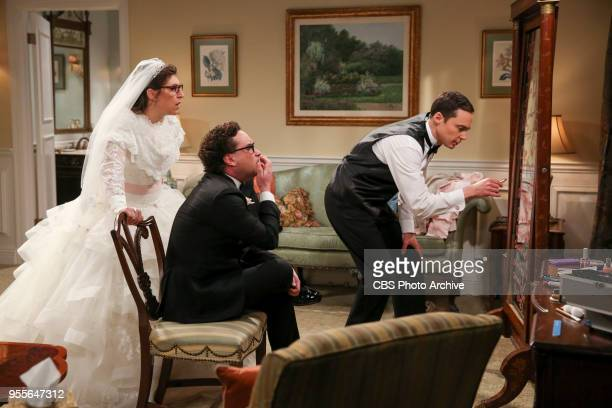'The Bow Tie Asymmetry' Pictured Amy Farrah Fowler Leonard Hofstadter and Sheldon Cooper When Amy's parents and Sheldon's family arrive for the...