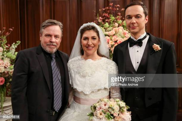 'The Bow Tie Asymmetry' Pictured Behind the Scenes Mark Hamill Amy Farrah Fowler and Sheldon Cooper When Amy's parents and Sheldon's family arrive...