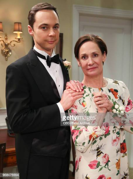 'The Bow Tie Asymmetry' Pictured Behind the Scenes Sheldon Cooper and Mary When Amy's parents and Sheldon's family arrive for the wedding everybody...