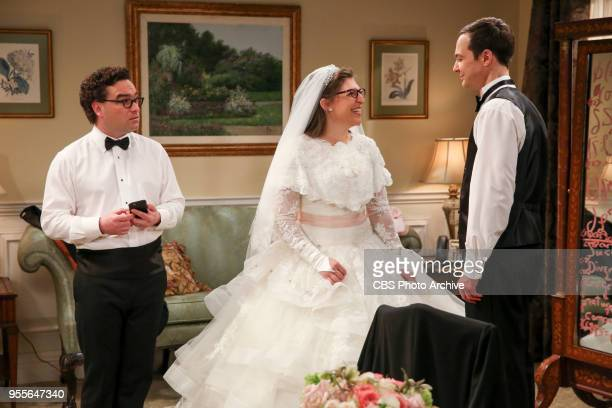 'The Bow Tie Asymmetry' Pictured Leonard Hofstadter Amy Farrah Fowler and Sheldon Cooper When Amy's parents and Sheldon's family arrive for the...