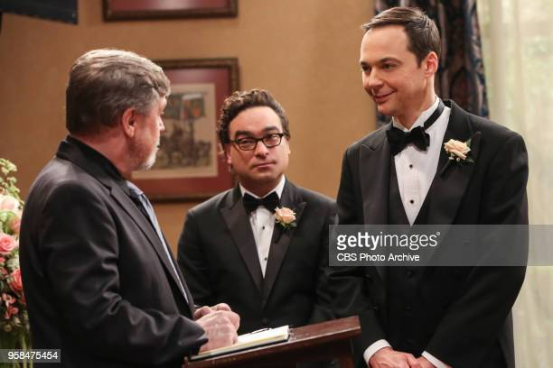 'The Bow Tie Asymmetry' Pictured Mark Hamill Leonard Hofstadter and Sheldon Cooper When Amy's parents and Sheldon's family arrive for the wedding...