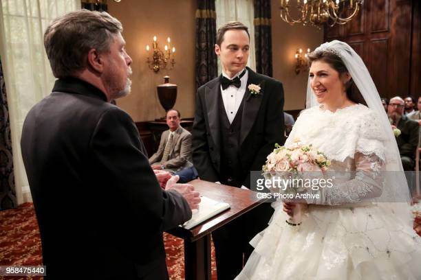 'The Bow Tie Asymmetry' Pictured Mark Hamill Sheldon Cooper and Amy Farrah Fowler When Amy's parents and Sheldon's family arrive for the wedding...