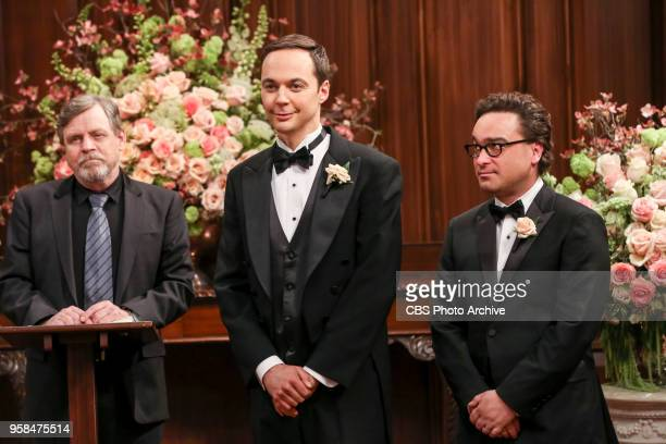 'The Bow Tie Asymmetry' Pictured Mark Hamill Sheldon Cooper and Leonard Hofstadter When Amy's parents and Sheldon's family arrive for the wedding...