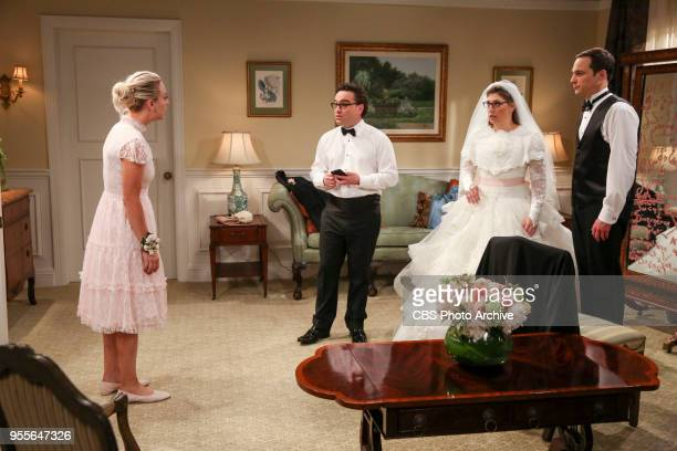 'The Bow Tie Asymmetry' Pictured Penny Leonard Hofstadter Amy Farrah Fowler and Sheldon Cooper When Amy's parents and Sheldon's family arrive for the...
