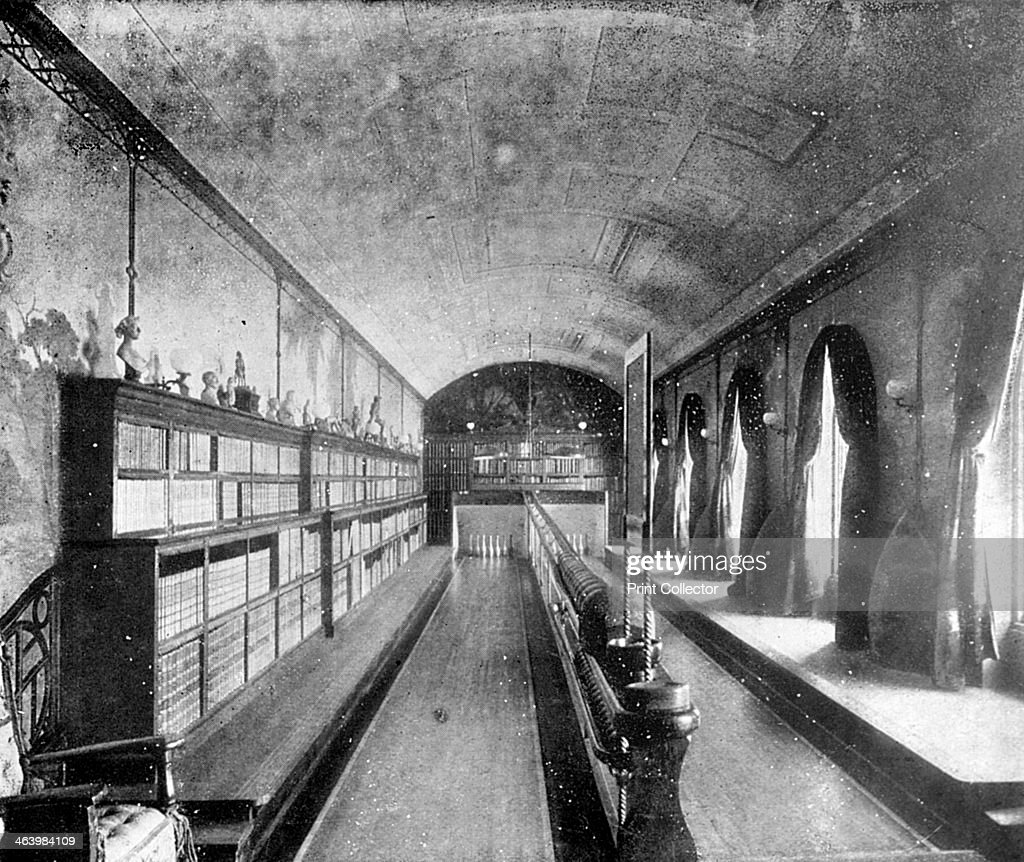 The bowling alley, Sandringham House, Norfolk, 1910. A photograph from Supplement to The Illustrated Sporting and Dramatic News, 28th May 1910.