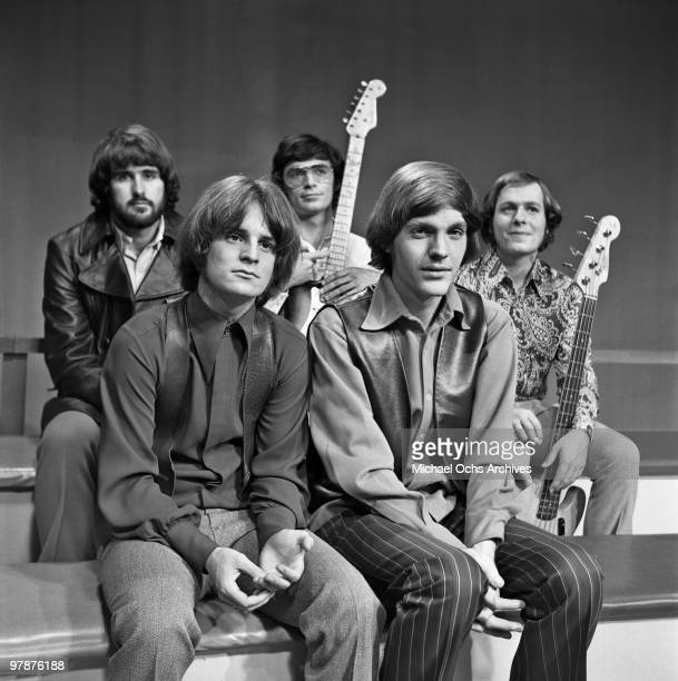 The Box Tops pose for a portrait while taking a break from performing on a TV show on October 14 1968 in New York City New York Alex Chilton is front...