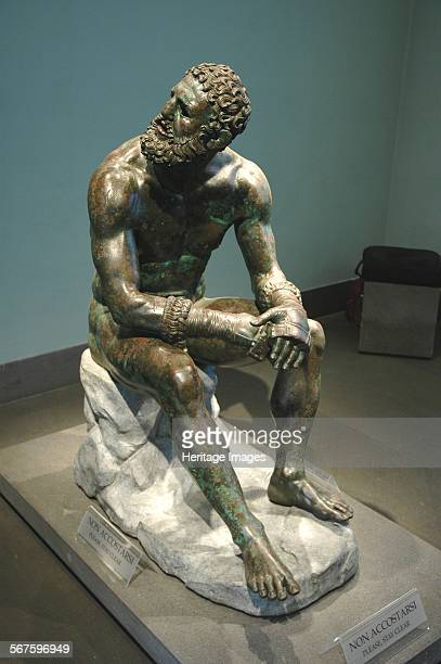 The Boxer of Quirinal or Therme Boxer Bronze Hellenistic orginal found at the remains of the Baths of Constantine Country of Origin Italy Culture...