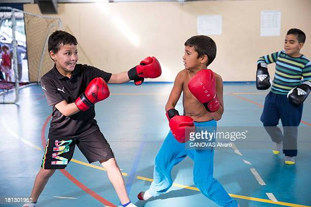 The boxing club on June 07 2013 in Marseille France