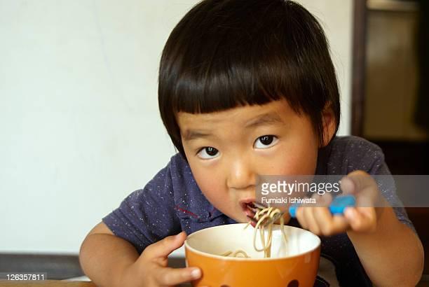 The boy who eats soba