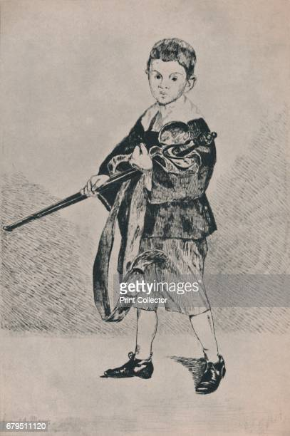 The Boy with the Sword' Etching after Manet's painting 'Boy Carrying a Sword' 1861 From The Etchings of the French Impressionists and Their...